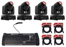 Dmx Lighting Controller Programming Part 1 4 Chauvet Intimidator Spot 110 Compact Moving Head Lights
