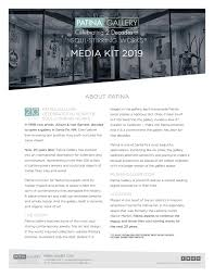 Patina Gallery Media Kit March 2019 by Patina Gallery - issuu