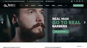 Barber Shop Website Barbershop Website Template Barber Shop Edunova Co