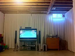 basement lighting ideas unfinished ceiling. Enchanting Unfinished Basement Ideas On A Budget Photo Lighting Ceiling