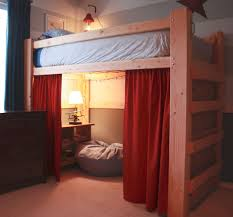 bedroom boys loft plans charming full with stairs canada size wood and slide tent