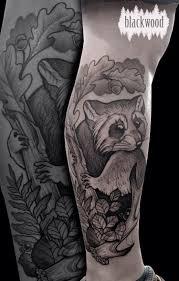 енот графика фото татуировок