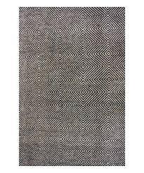 black wool rug nuloom handmade abstract trellis