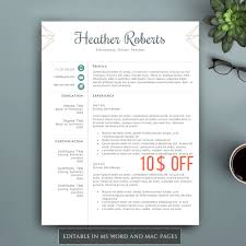 Creative Resume Template For Word Pages Complete 1 2 3 Pages