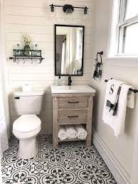 The Farmhouse Bathroom Has A Couple Of Things More Than Rustic And Farm Inspired By Sev Bathroom Farmhouse Style Small Farmhouse Bathroom Bathroom Design Small