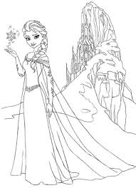 Princess Coloring Pages Frozen Elsa And Anna Free Refrence Disney