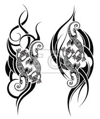 Fototapeta Ještěrka Tetování