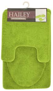 hailey 3 piece bathroom rug set bath mat contour rug toilet seat lid cover yellow com