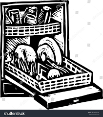 dishwasher clipart black and white. black and white vector illustration of a dishwasher clipart h