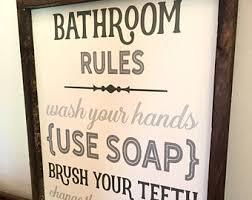Delightful Nice Bathroom Signs Decor Bathroom Wall Decor Etsy Home
