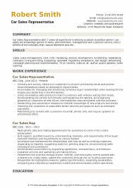 Sales Position Resume Examples Car Sales Representative Resume Samples Qwikresume