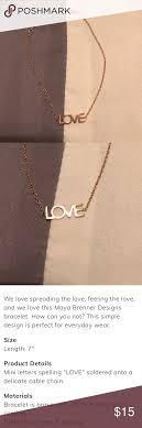 Maya Brenner Designs Love Bracelet In White