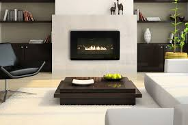 modern ventless gas fireplace white