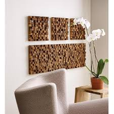rectangle takara wall art 3 thumbnail on rectangular wooden wall art with rectangle takara wall art teak wood 3d art uncommongoods