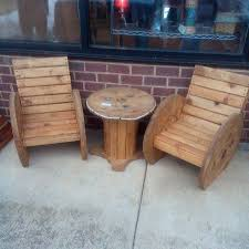 upcycled wooden cable spools adirondack chairs