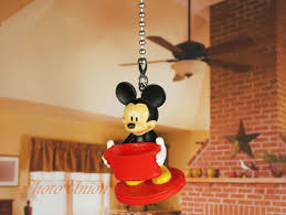 details about disney mickey mouse gardener ceiling fan pull light lamp chain decoration k1215c