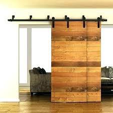 bypass sliding barn door hardware wood closet rustic on