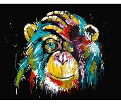 Check out our coloring canvas selection for the very best in unique or custom, handmade pieces from our wall décor shops. Monkey Paint By Number Kit Chimpanzee Diy Kit Chimp Painting Etsy Paint By Number Animal Canvas Diy Painting