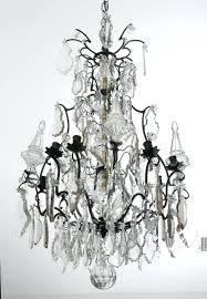 antique french crystal and bronze chandelier french crystal birdcage chandelier birdcage crystal chandelier