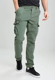 Superdry CORE LITE - Cargo trousers - washed beach grass ...