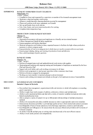 Banquet Cook Resume Samples Velvet Jobs