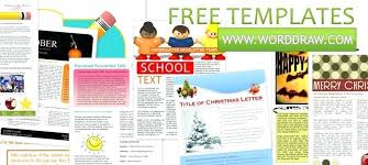 Microsoft Office Templates For Publisher Free School Newsletter Templates Word Newsletter Template Word Free