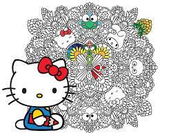 Simple free hello kitty coloring page to print and color. 15 Coloring Books For Adults That Will Make You Seriously Nostalgic For Your Childhood