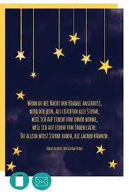 Trauerkarte Kind Sterne Himmel Im Herzen Christliche Poster