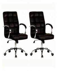leather swivel office chair. Universal Quilted Leather Swivel Office Chairs - Set Of 2 Chair W