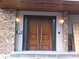 smooth fiberglass exterior double doors with 2 frosted