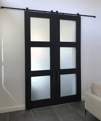 satin black barn doors