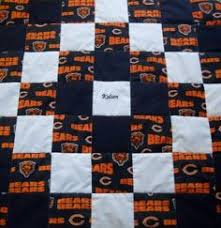 Chicago Bears Quilt by UltimateQuilts on Etsy | Chi-Town Bears ... & Handmade Chicago Bears KingSize Quilt by OzarkMountainQuilts, $250.00 Adamdwight.com