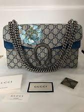 gucci bags on ebay. nwt auth gucci dionysus blooms blue beige gg supreme shoulder bag handbag $2350 bags on ebay
