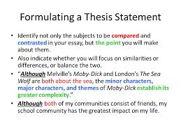 comparative essay thesis statement thesis statement for thesis statement for comparative and contrast essays comparison and contrast writing what is comparison and contrast