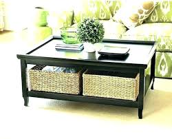 coffee table with baskets underneath coffee table with baskets coffee tables with storage baskets com inside