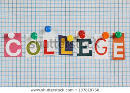 Word College Word College Cut Out Magazine Letters Stock Photo Edit Now