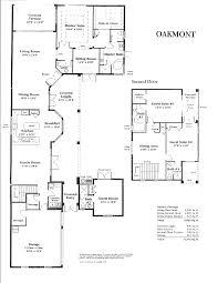 oakmont luxury gold course house floor plangif