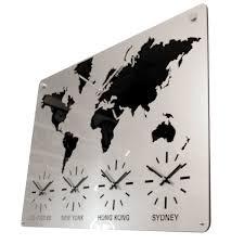 roco verre acrylic map clock w55 5cm x h41 5cm