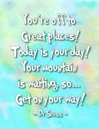 Dr Seuss Oh The Places You Ll Go Quotes Inspiration Oh The Places You'll Go Dr Seuss Printables Kids Spaces