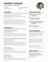 Salesforce Experienced Resumes My Single Page Cv Sfdcfanboy