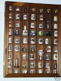thimble collection with wood case 58 thimbles