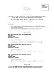 Resume Career Objectives Resume Career Objective Example Examples Of Resumes Statement For 20