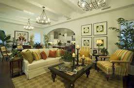 Living Room:Extraordinary Tropical Living Room Decoration With L Shaped  White Sofas Tropical Touch On
