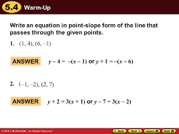 1 2 2 7 write an equation in point slope form of the line that p through the given points
