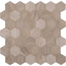 msi honeycomb hexagon 12 in x 12 in x 10mm natural marble mesh