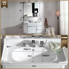 bo deluxe stainless steel bathroom cabinet bathroom counter basin basin round washbasin washbasin wall cabinet bathroom ez singapore