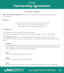 Sample Business Partnership Agreement Partnership Agreement Template US LawDepot 1
