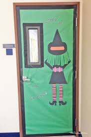 Cute Witch Door | Quick and Easy Halloween Classroom Door Decorations  {OneCreativeMommy.com}