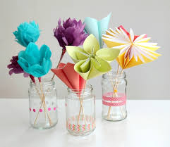 Paper Crafted Flowers Make A Bouquet Of Beautiful Paper Flowers For Mothers Day
