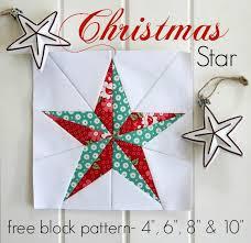 Threadbare Creations: Christmas Star- Free Quilt Block Pattern & I ... Adamdwight.com